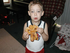 "Eating His ""Donut Man"""